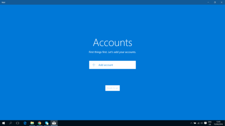 Add Account Option